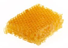 Honeycomb. Yellow honeycomb wax cell detail texture background Royalty Free Stock Images