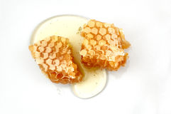 Honeycomb. On the white backgroung Stock Images