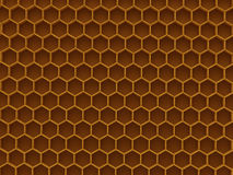 Honeycomb. Brown wax hexagon honeycomb background Royalty Free Stock Photography