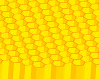 Honeycomb. Orange and yellow 3d honeycomb background Royalty Free Stock Image