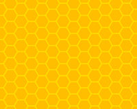 Honeycomb. Orange and yellow honeycomb ornament Royalty Free Stock Photo
