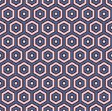 Honeycomb abstract background. Hexagon tiles mosaic wallpaper. Seamless pattern with classic geometric ornament. Honeycomb abstract background. Pastel colors vector illustration