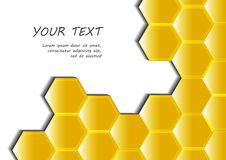 Honeycomb abstract background vector illustration