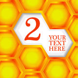 Honeycomb abstract background Royalty Free Stock Photos
