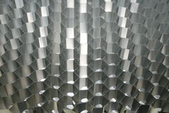 Honeycomb aluminium structure. A honeycomb aluminium structure used in professional tables manufacturing Stock Images