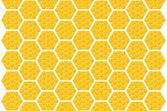 Honeycomb. This associative picture on a very sweet natural, therapeutic product in a vector format. It can be used as background Stock Photography