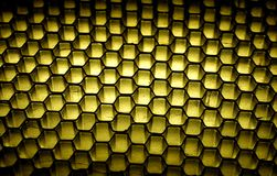 Honeycomb Background. Photo of a Grid / Honeycomb Background - Light From Beneath Material Stock Images