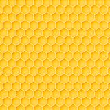 Honeycomb background from a bee hive. Vector illustration of geometric texture. Seamless hexagons pattern for web, print, wallpaper, wrapping, fashion fabric Stock Image