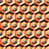 Honeycomb background. 3d mosaic. Vector illustration. Can be used for layout, banner and web design Royalty Free Stock Photos