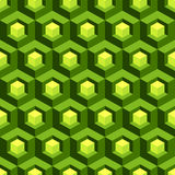 Honeycomb background 3d. Mosaic. Vector. Illustration. Can be used in textiles, for book design, website background Royalty Free Stock Photos