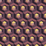 Honeycomb background 3d. Mosaic. Vector illustration. Can be used for wallpaper, web page background, book cover Stock Photos