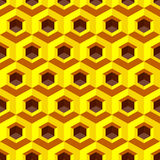 Honeycomb background 3d. Mosaic. Vector. Illustration. Can be used for wallpaper, web page background, web banners Stock Photography