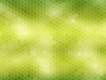 Honeycomb background: green. Green honeycomb background, hexagons pattern Royalty Free Stock Photos
