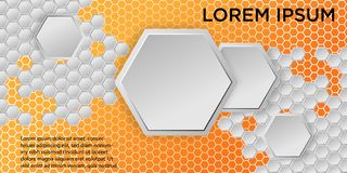 Honeycomb Background. Vector Illustration of Geometric Hexagons Background stock illustration