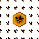 honeycomb bezszwowy deseniowy Zdjęcie Stock
