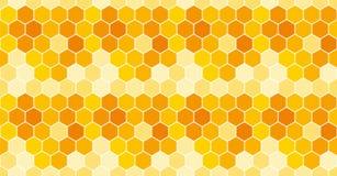 honeycomb bezszwowy deseniowy Wektorowy tło royalty ilustracja