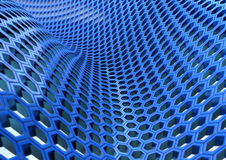 HoneyComb Blue. Honeycomb structure on a white background Royalty Free Stock Photography
