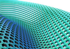 HoneyComb Bluegreen. Honeycomb structure on a white background Royalty Free Stock Images