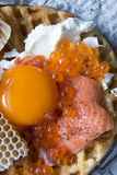Honeycomb Breakfast. Food Egg Bread Royalty Free Stock Image