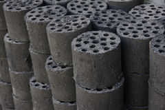 Honeycomb briquette Stock Images