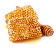 Honeycomb closeup . Royalty Free Stock Photos