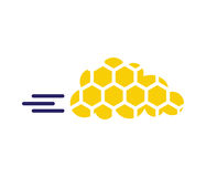 Honeycomb with Cloud Technology Icon Concept Royalty Free Stock Photos