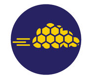 honeycomb with Cloud Technology Icon Concept Royalty Free Stock Images