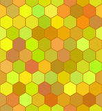 Honeycomb color pattern Stock Photography