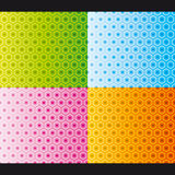 honeycomb deseniowy bezszwowy setu wektor Zdjęcie Royalty Free