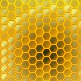 Honeycomb Design. Gentle transition between colors and shapes creates a surreal honey world. Fantastic background Royalty Free Stock Photo