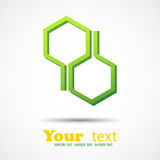 Honeycomb design element background Stock Photography