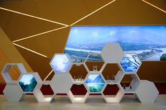 Honeycomb display rack Stock Photo