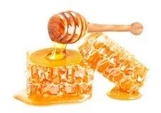 Honeycomb dripping royalty free stock photo