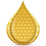 Honeycomb in drop Stock Photography