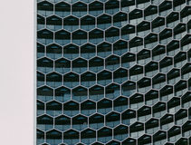 Honeycomb facade Royalty Free Stock Image