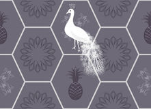 Honeycomb floor tile seamless pattern Stock Photo