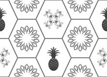 Honeycomb floor tile seamless pattern Royalty Free Stock Images