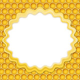 Honeycomb frame Royalty Free Stock Photography