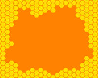 Honeycomb frame Stock Photos