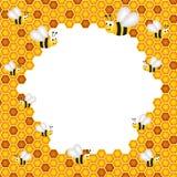 Honeycomb Frame Royalty Free Stock Photo