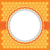 Honeycomb frame. Vector illustration. Honeycomb frame with copy space. Vector illustration Stock Image