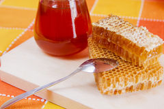 Honeycomb full of honey Royalty Free Stock Photos