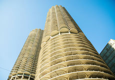 Honeycomb garażu budynek w w centrum Chicago obrazy stock