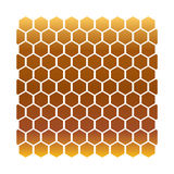 Honeycomb gold Stock Photography