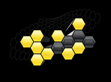 Honeycomb graphic Stock Photography