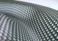 HoneyComb Grey. Grey Honeycomb structure on a white background Royalty Free Stock Photography