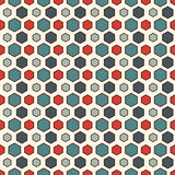Honeycomb grid abstract background. Repeated hexagon wallpaper. Seamless pattern with classic geometric ornament. Stock Photo
