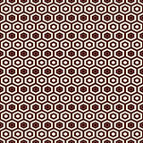 Honeycomb grid background. Outline repeated hexagon wallpaper. Seamless surface pattern with classic geometric ornament. Stock Photo