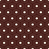 Honeycomb grid background. Outline repeated hexagon wallpaper. Seamless surface pattern with classic geometric ornament. Royalty Free Stock Image