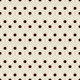 Honeycomb grid background. Outline repeated hexagon wallpaper. Seamless surface pattern with classic geometric ornament. Stock Image